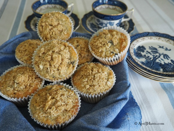 Blueberry Chia Muffins with Lemon & Ginger