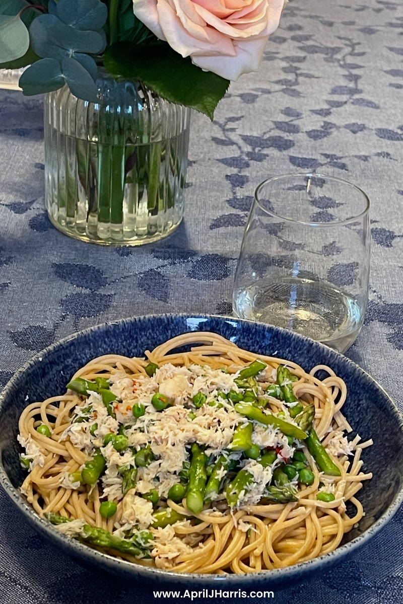 Quick and Easy Crab Linguine Recipe - perfect for date night