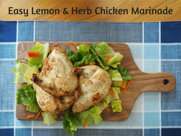 Easy Lemon and Herb Chicken Marinade on AprilJHarris.com