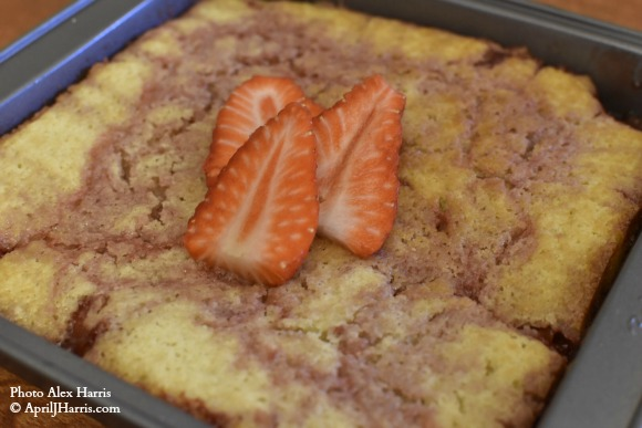 Strawberry Pudding Cake on AprilJHarris.com