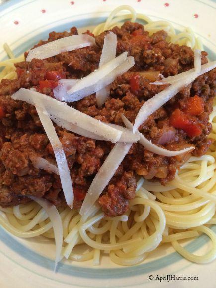 Vegetarian Spaghetti Bologese