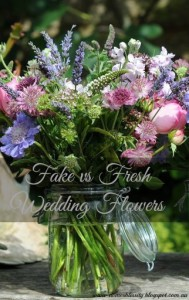 fake vs fresh wedding flowers at the Hearth and Soul Hop