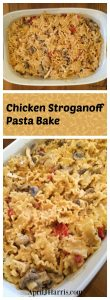 My Chicken Stroganoff Pasta Bake is an easy, busy night meal. It's a mild, lower fat, family friendly twist on beef stroganoff that everyone will love.