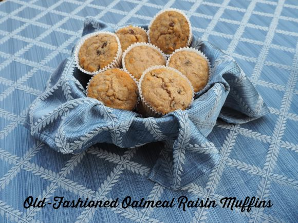 Old Fashioned Oatmeal Raisin Muffins on AprilJHarris.com