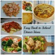 Easy Back to School Dinner Ideas on AprilJHarris.com
