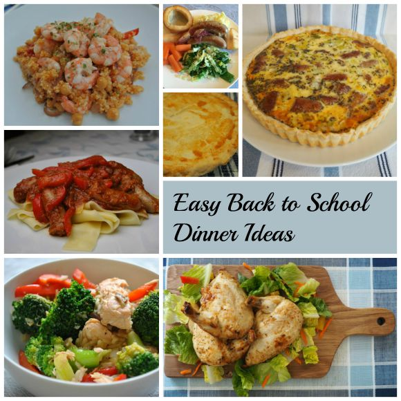 Easy Back To School Dinner Ideas