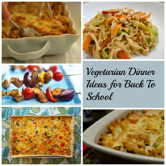 Vegetarian Dinner Ideas for Back to School on AprilJHarris.com