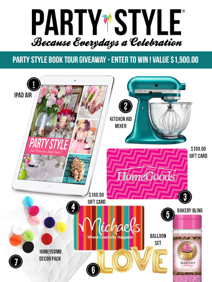 Giveaway for Party Style Book Launch