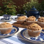 Banana Streusel Muffins with Flaxseed