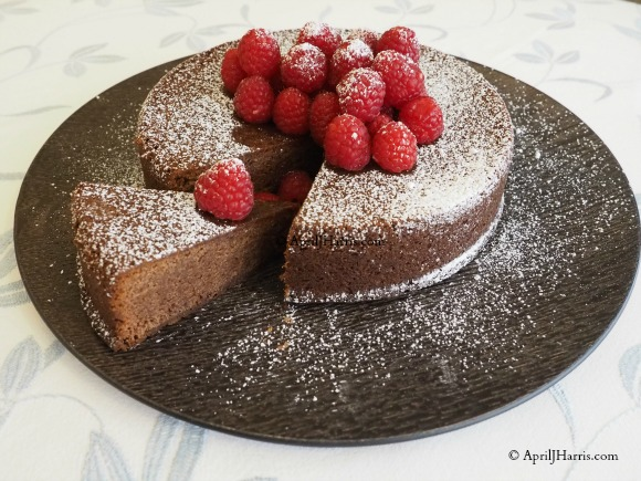 Chocolate and Raspberry Jam Cake on AprilJHarris.com