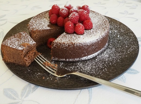 Chocolate and Raspberry Jam Cake on AprilJHarris.com
