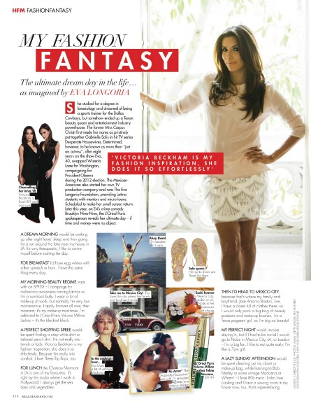 Eva Longoria speaks to HELLO! Fashion Monthly