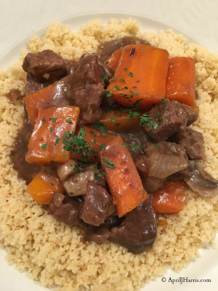 Traditional British Beef and Ale Stew on AprilJHarris.com