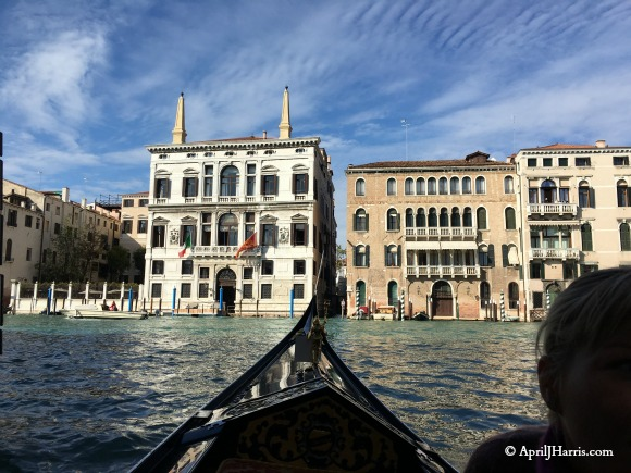 Seeing Venice by Gondola on AprilJHarris.com