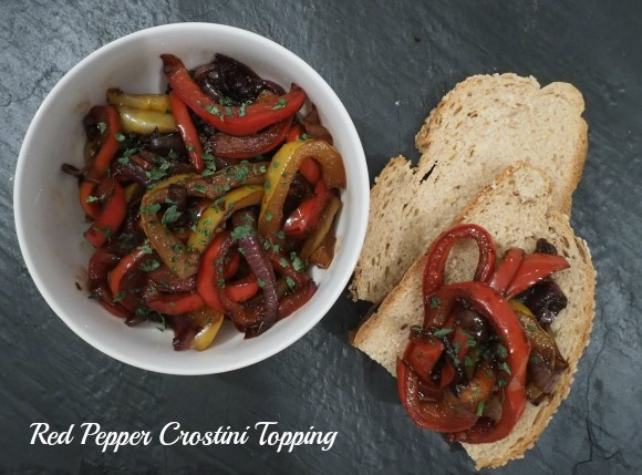 Red Pepper Crostini Topping on AprilJHarris.com