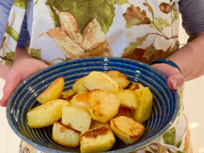 Crisp and crunchy outside, soft and fluffy inside, there's nothing like really good roast potatoes. My easy hints and tips will make it easy for you to make the Best Roast Potatoes ever, the food that memories are made of!