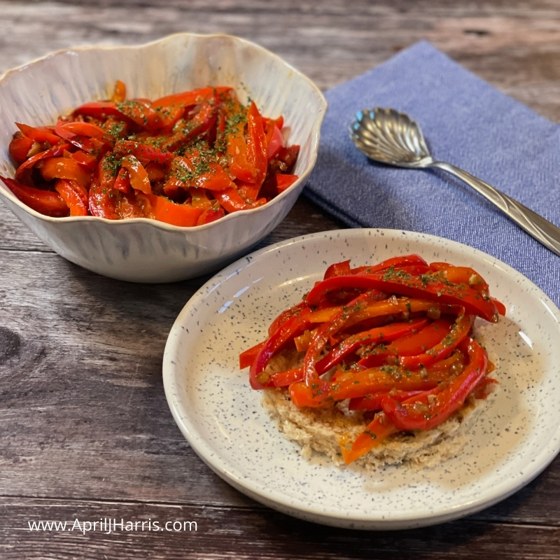 Perfect for entertaining, my Red Pepper Crostini are an easy to make, versatile, vegan appetiser.