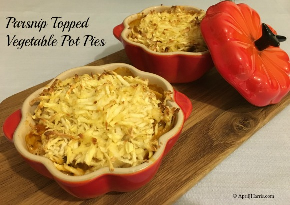 Parsnip Topped Vegetable Pot Pies on AprilJHarris.com