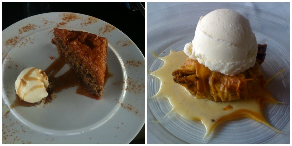Baklava served two different ways - The Flavor of Modern Greece