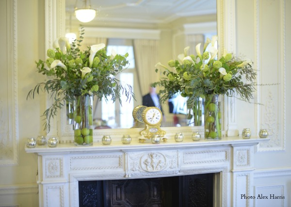 Flower arrangements at our Best Anniversary Ever and ideas for your anniversary celebrations on http://www.apriljharris.com
