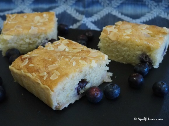 Lemon and Blueberry Bakewell Tart Squares