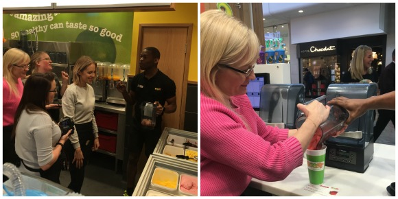 Making drinks at Boost Juice Bars