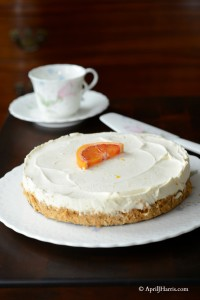 Easy No Bake Orange Cheesecake on http://www.apriljharris.com
