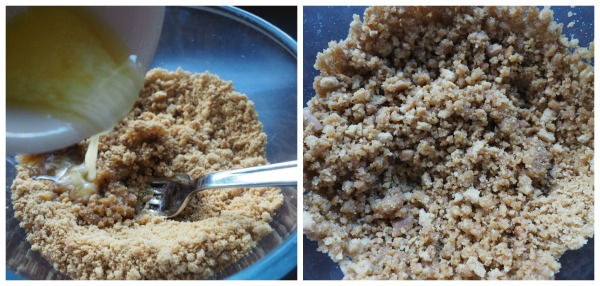 Cookie Crumbs ready for Easy No Bake Orange Cheesecake on http://www.apriljharris.com