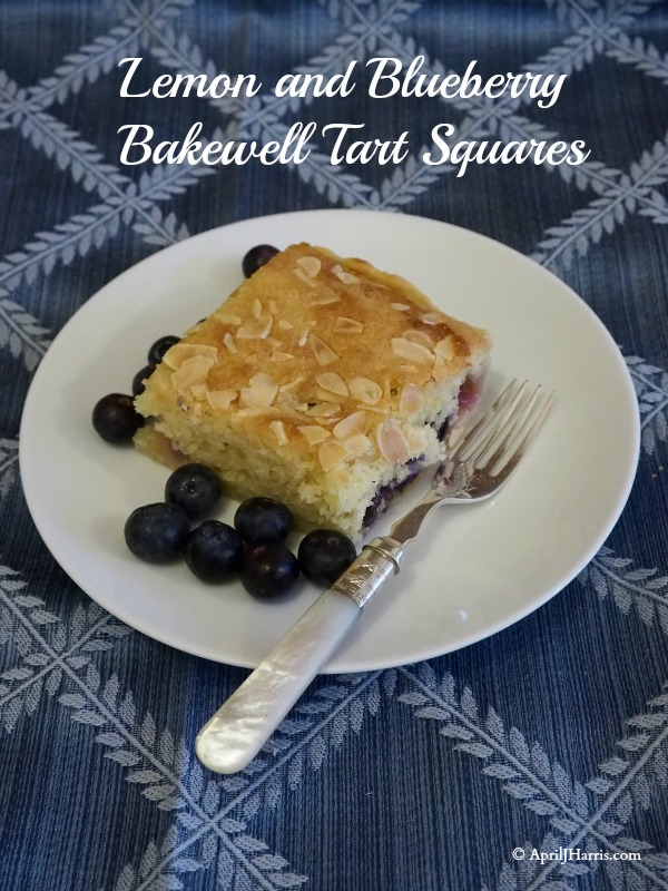 Lemon and Blueberry Bakewell Tart Square