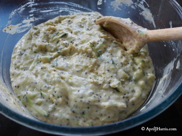Wet ingredients for Zucchini Lemon Chia Seed Muffins