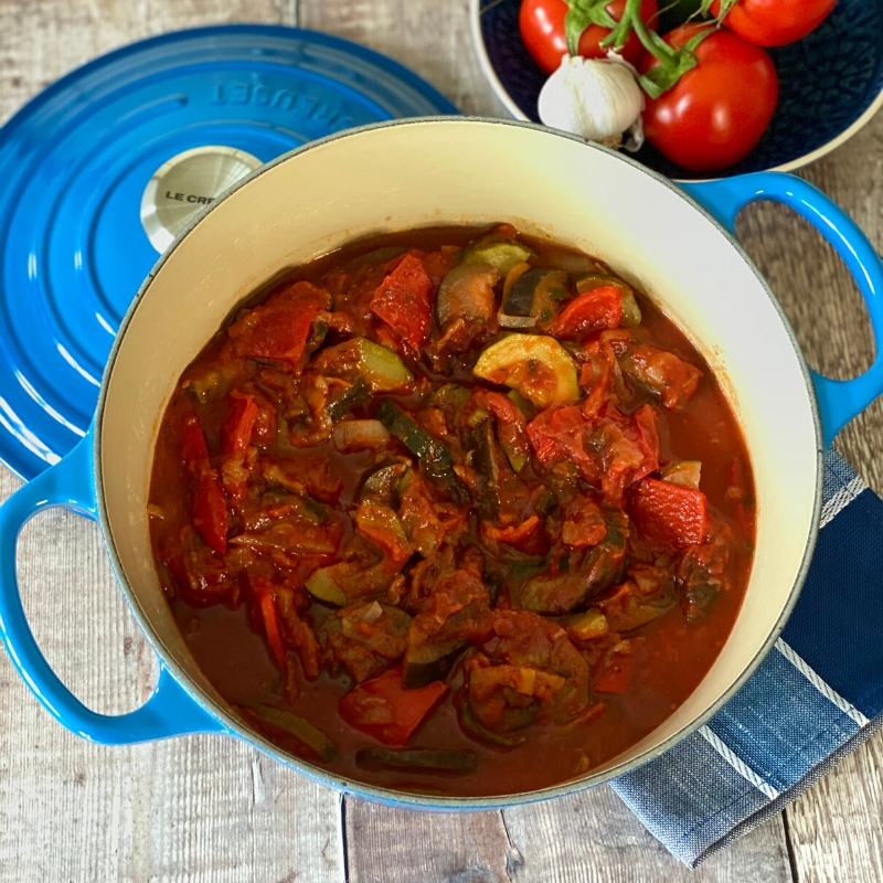 Ratatouille, a Traditional French Dish - served in a casserole