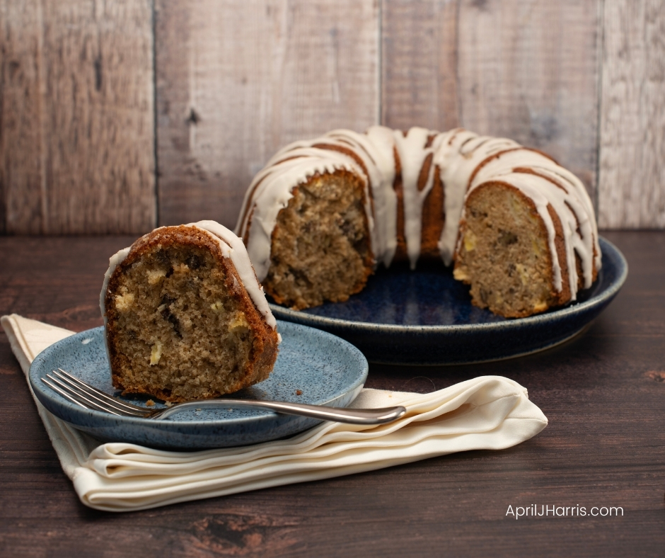 My warmly spiced Apple Pecan Cake with Maple Glaze is the perfect cake to have on hand for an everyday treat.