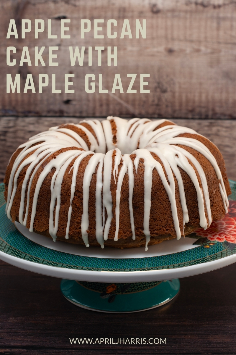 My easy to make, warmly spiced Apple Pecan Cake with Maple Glaze is the perfect cake to have on hand