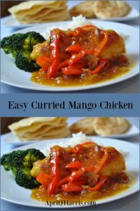 My Easy Curried Mango Chicken is an easy to make recipe that's perfect for busy nights. You can adapt the spicing to suit everyone's tastes.