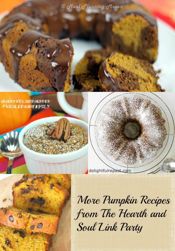 Pumpkin Recipes and More from The Hearth and Soul Link Party