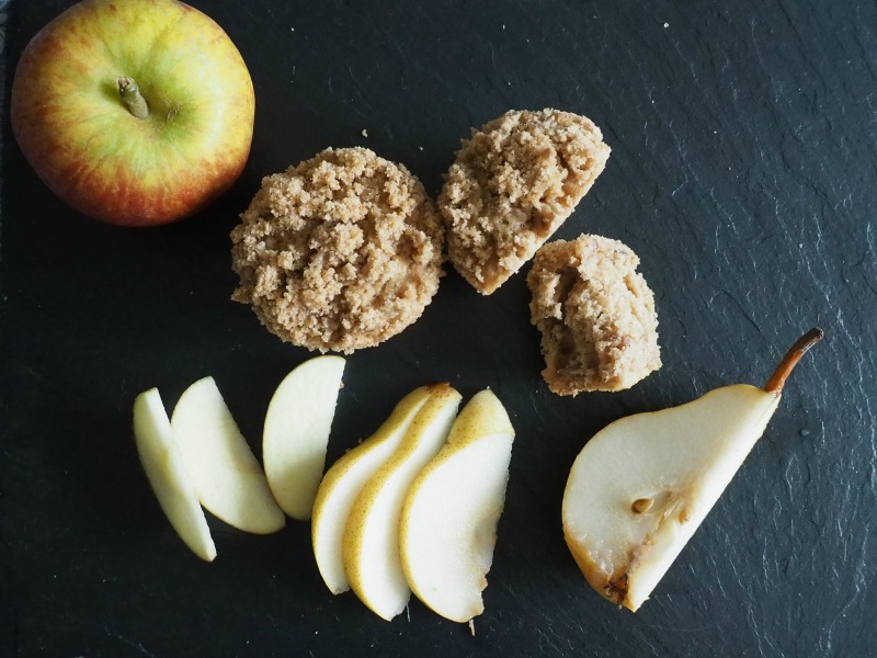 Apple Pear and Pecan Streusel Muffin recipe
