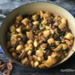 Easy and Delicious Thanksgiving Stuffing - A delicious Thanksgiving stuffing chock full of crisp celery, plump dried apricots and crunchy pecans.