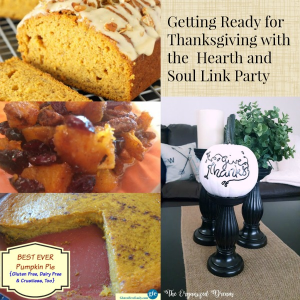 Getting Ready for Thanksgiving at The Hearth and Soul Link Party