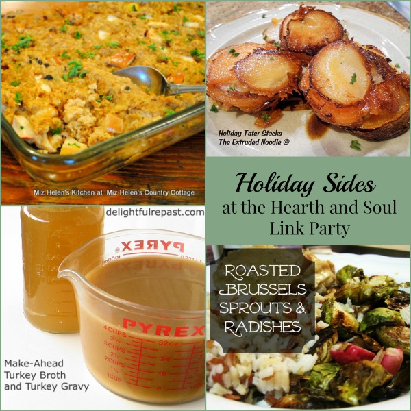 Holiday Sides from the Hearth and Soul Hop Link Party where we welcome all family friendly posts. Please join us!