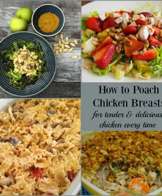 Learn how to poach chicken breasts, for moist and delicious results every time!