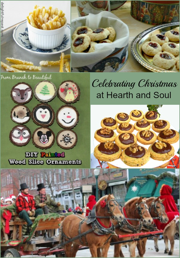Celebrating Christmas at The Hearth and Soul Link Party with recipes, great ideas and inspiration