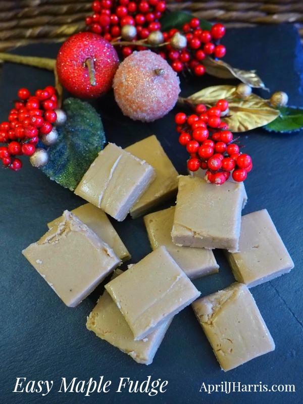 Maple Fudge, a delicious, fun to make holiday treat