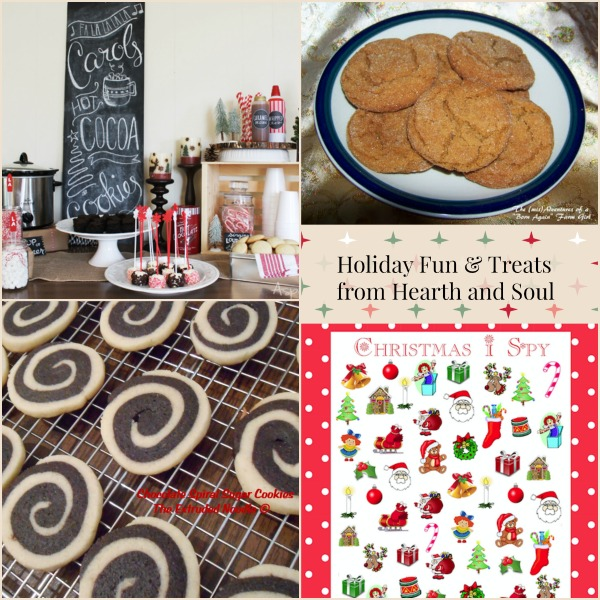 Holiday Fun and Treats featured posts from the Hearth and Soul Link Party
