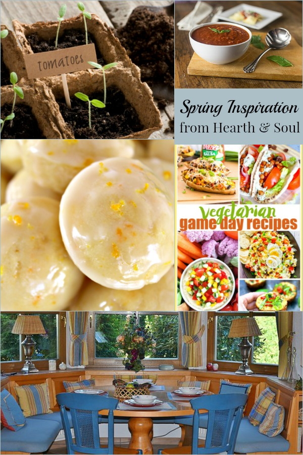 The Hearth and Soul Link Party where we welcome all family friendly posts. Featuring Spring Inspiration this week!