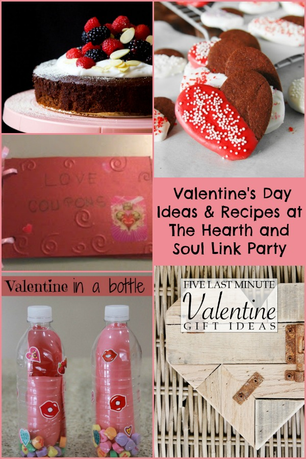 Valentines Day Ideas and Recipes at the Hearth and Soul Link Party