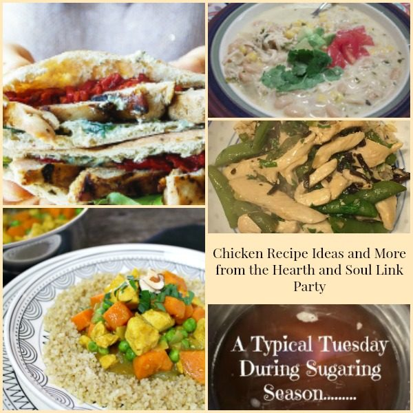 Chicken Recipe Ideas from the Hearth and Soul Link Party
