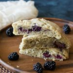 Gluten Free Blackberry and Apple Scones