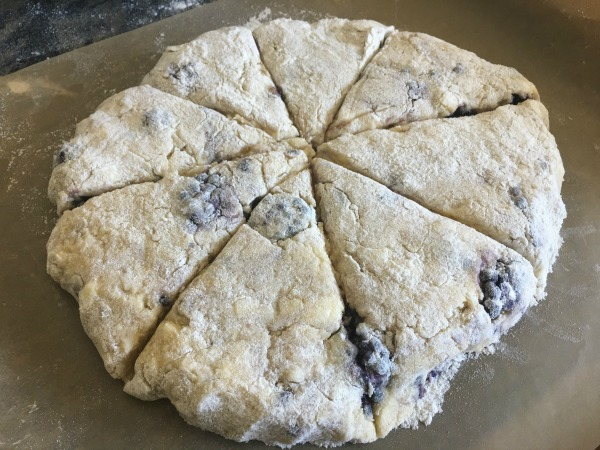 Gluten Free Blackberry and Apple Scones being made