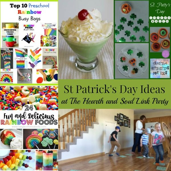 St Patrick's Day Ideas and Inspiration at The Hearth and Soul Link Party where we invite you to share posts about anything that feeds your soul