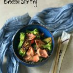 Fresh salmon combines with crisp broccoli and red pepper on a bed of brown rice in my Easy Salmon and Broccoli Stir Fry recipe. This is a rice bowl with a difference!